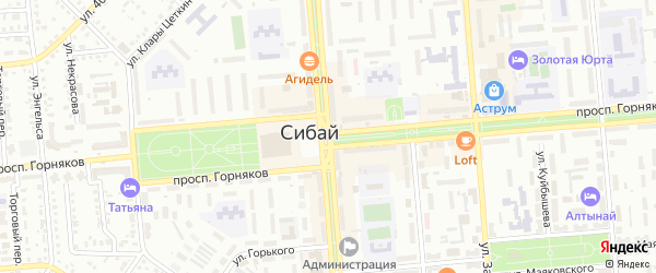 Улица Тружеников на карте Сибая с номерами домов