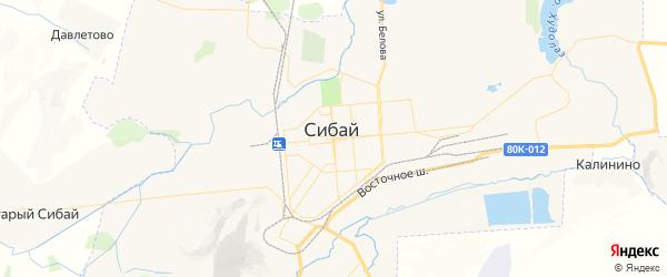 Карта Сибая с районами, улицами и номерами домов: Сибай на карте России