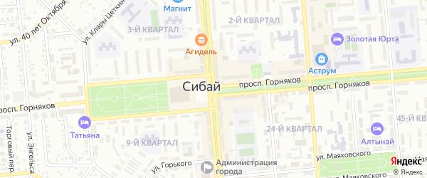 Медовая улица на карте Сибая с номерами домов