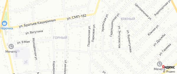 Подольская улица на карте Сибая с номерами домов