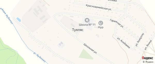 Улица Губайдуллина на карте села Туяляса с номерами домов