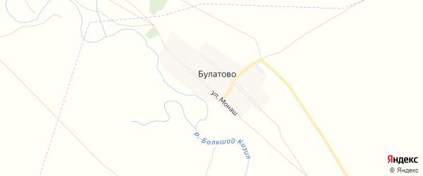 Карта деревни Булатово в Башкортостане с улицами и номерами домов