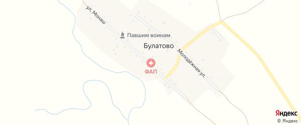 Улица Монаш на карте деревни Булатово с номерами домов