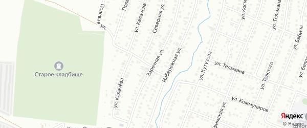 Заречная улица на карте Сибая с номерами домов