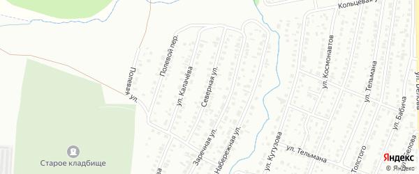 Северная улица на карте Сибая с номерами домов