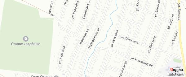 Набережная улица на карте Сибая с номерами домов