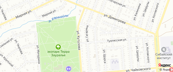 Улица Гагарина на карте Сибая с номерами домов
