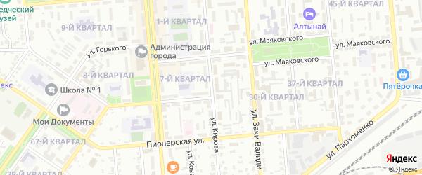 Улица Кирова на карте Сибая с номерами домов