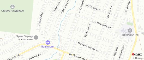 Улица Кутузова на карте Сибая с номерами домов