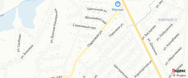 Парковая улица на карте Сибая с номерами домов