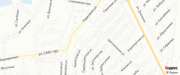 Уральская улица на карте Сибая с номерами домов