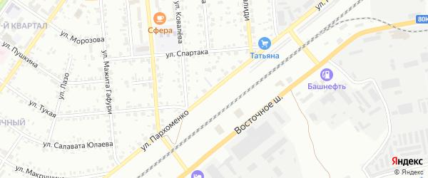 Улица Пархоменко на карте Сибая с номерами домов