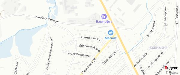 Цветочная улица на карте Сибая с номерами домов