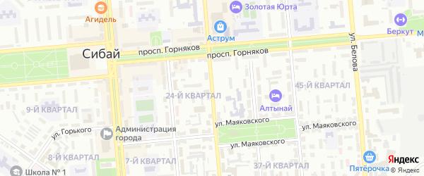 Улица Заки Валиди на карте Сибая с номерами домов