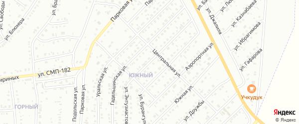 Улица Энтузиастов на карте Сибая с номерами домов