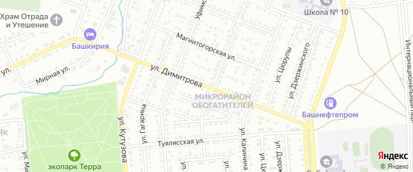 Улица Димитрова на карте Сибая с номерами домов