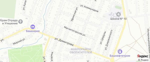 Магнитогорская улица на карте Сибая с номерами домов