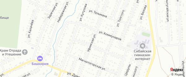 Уфимская улица на карте Сибая с номерами домов