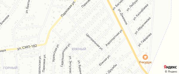 Центральная улица на карте Сибая с номерами домов