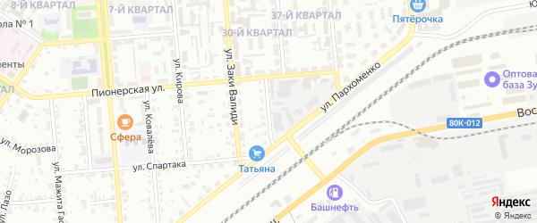 Хлебозаводская улица на карте Сибая с номерами домов