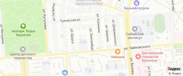 Улица Люксембург на карте Сибая с номерами домов