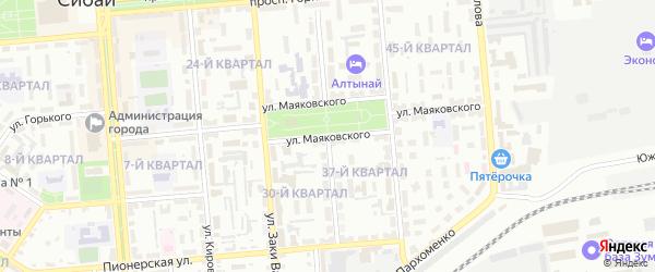 Улица Куйбышева на карте Сибая с номерами домов