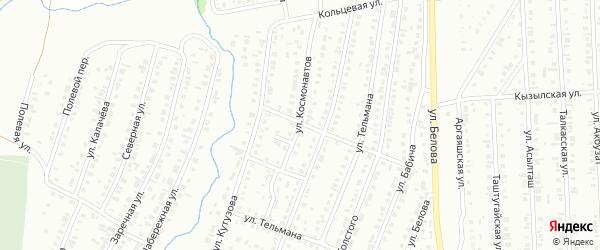Улица Космонавтов на карте Сибая с номерами домов