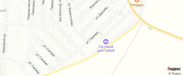 Улица Гареева на карте Сибая с номерами домов