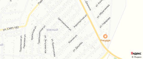 Аэропортная улица на карте Сибая с номерами домов