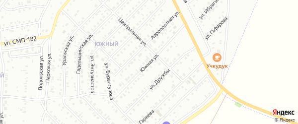 Южная улица на карте Сибая с номерами домов