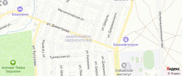 Улица Калинина на карте Сибая с номерами домов