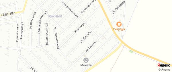 Улица Дружбы на карте Сибая с номерами домов