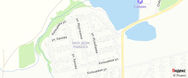 Улица Исянбаева на карте Сибая с номерами домов
