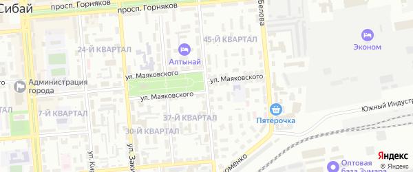 Улица Островского на карте Сибая с номерами домов