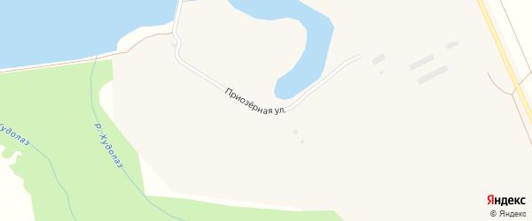 Приозерная улица на карте села Туяляса с номерами домов