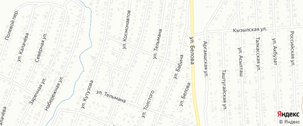 Улица Тельмана на карте Сибая с номерами домов