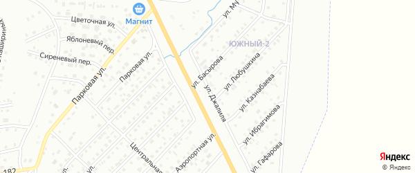 Улица Джалиля на карте Сибая с номерами домов