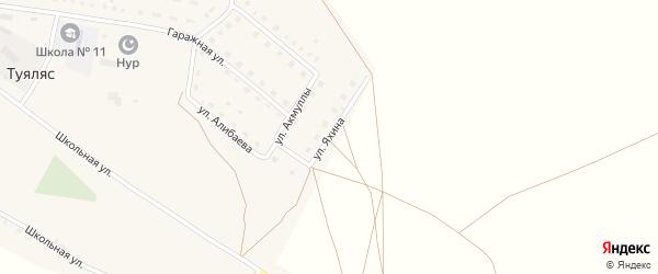 Улица Яхина на карте села Туяляса с номерами домов