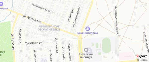 Улица Котовского на карте Сибая с номерами домов