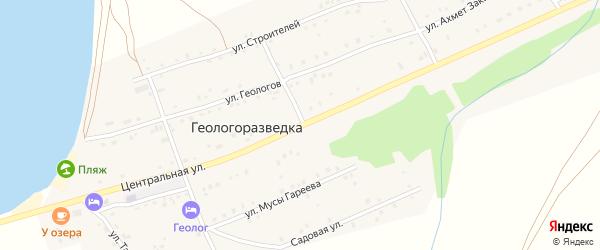 Центральная улица на карте села Ташбулатово с номерами домов