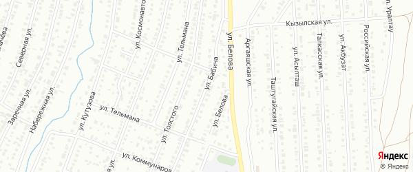 Улица Бабича на карте Сибая с номерами домов