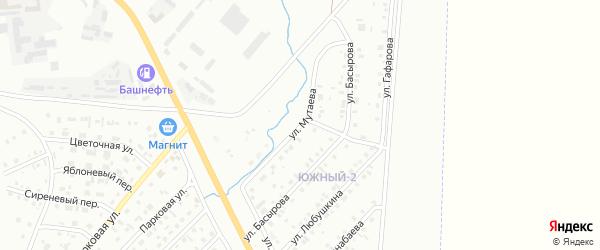 Улица Мутаева на карте Сибая с номерами домов