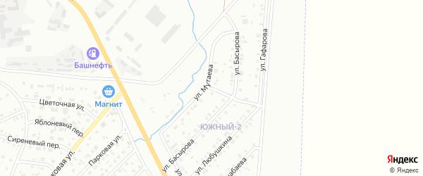 Улица Басырова на карте Сибая с номерами домов