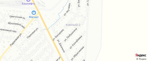 Улица Любушкина на карте Сибая с номерами домов
