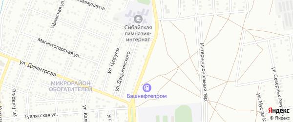 Улица Белова на карте Сибая с номерами домов