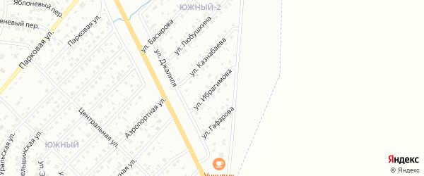 Улица Ибрагимова на карте Сибая с номерами домов