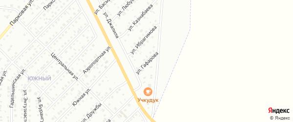 Улица Гафарова на карте Сибая с номерами домов