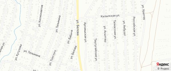 Аргаяшская улица на карте Сибая с номерами домов