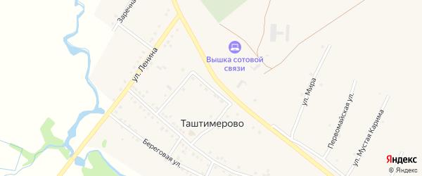 Молодежная улица на карте деревни Таштимерово с номерами домов