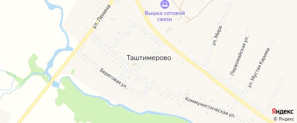 Улица Мира на карте деревни Таштимерово с номерами домов